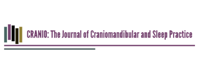 the journal of craniomandibular and sleep medicine